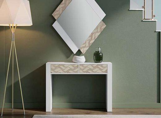 mesa-recibidor-estrecha-blanca-con-cajones-dibujo-067co30124