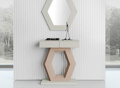 Mueble hall recibidor lacado base moderna