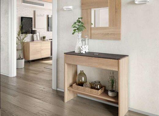recibidor-rustico-madera-estrecho-con-espejo-a-juego-206fc6471f