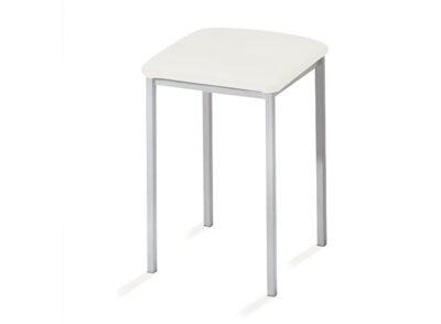 Taburete diseño minimalista en color blanco