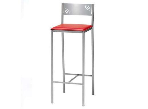 taburete-rojo-de-polipiel-con-respaldo-y-estructura-de-aluminio-032ta766