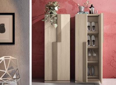 Zapatero 2 puertas vertical color madera