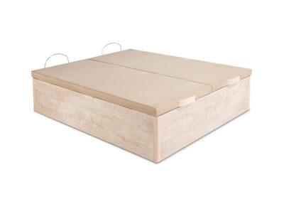 Canapé abatible tapa partida de madera