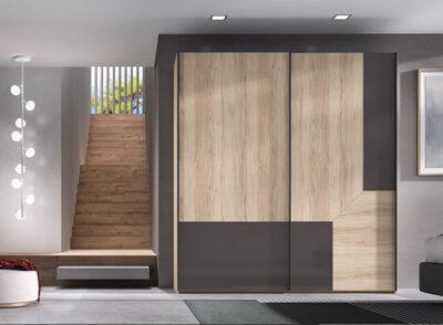 Armario grande puertas correderas madera