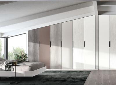 Armarios de vestidor de 6 puertas blanco