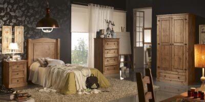 Cabecero rústico mexicano cama individual