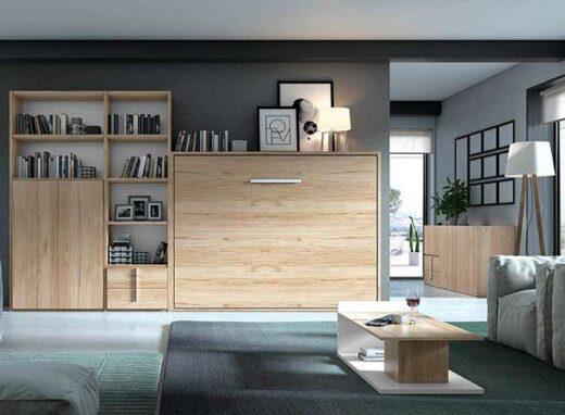 dormitorios-de-matrimonio-con-cama-abatible-y-estanterias-116cl87101