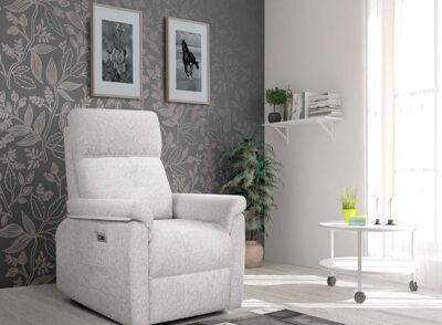 Butacas relax de diseño gris claro