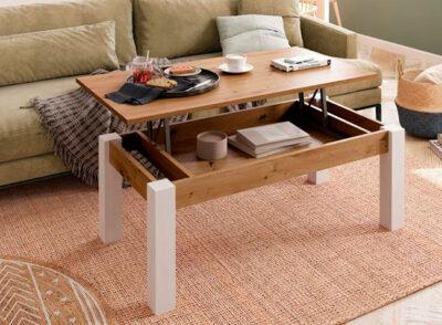 Mesas de centro elevables y extensibles de diseño madera
