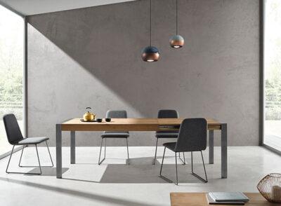 Mesas de comedor de diseño extensibles modernas