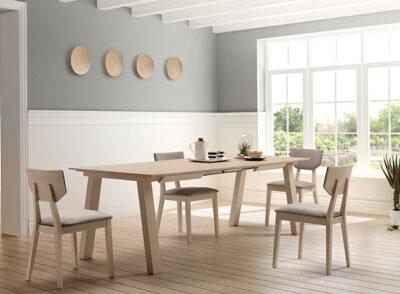 Mesas de comedor extensibles nórdicas