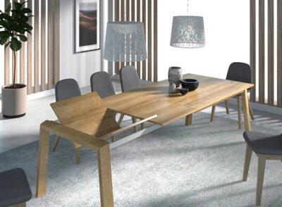 Mesas de comedor grandes extensibles madera estilo escandinavo