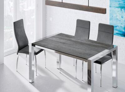 Mesas de comedor modernas minimalistas con patas metálicas