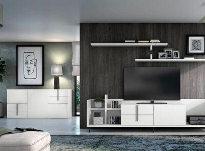 Muebles de salón de diseño minimalista blanco