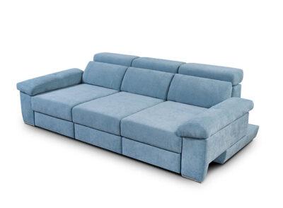 Sofá azul claro 3 plazas reclinable